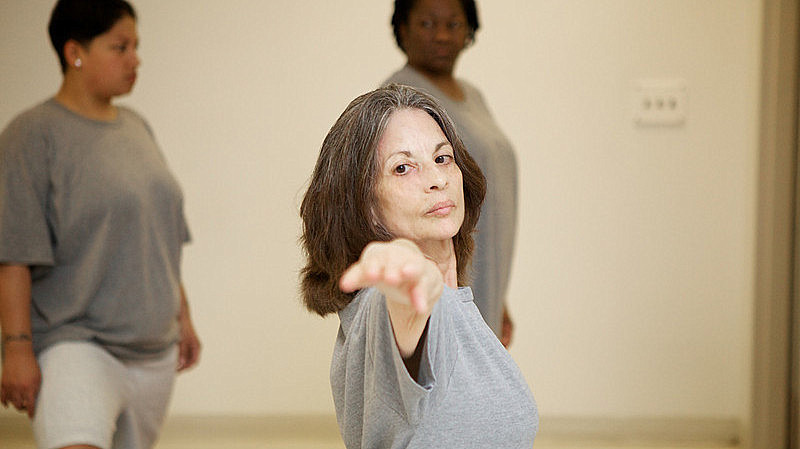 Prison Yoga - Up close - Woman - Generations Magazine Photo